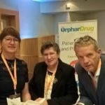 The EHA President Astri Arnesen, the Board Members Svein Olaf Olsen and Bea De Schepper at the Orphan Drug conference.