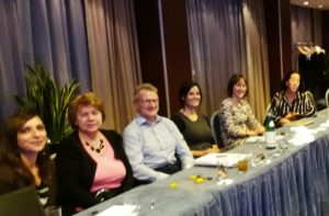 From left: Barbara d`Alessio and Danuta Lis from EHA, Tim Mclean, Selene Capodarca, Ruth Fullam, Jamie Levey from EHDN