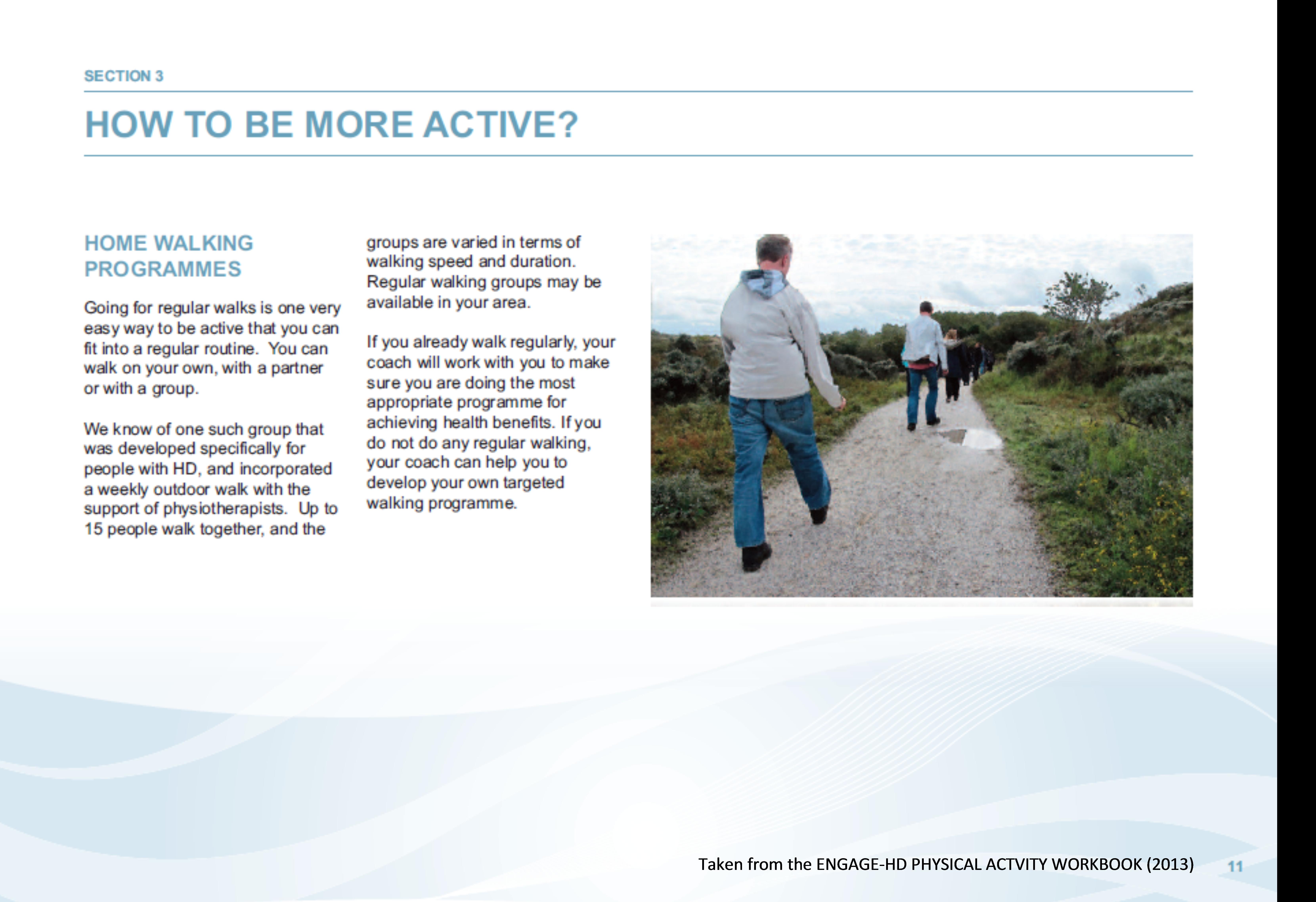 Type of Activities – European Huntington Association
