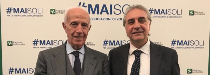 From left to right: Prof. Tommaso Caraceni, founder of the first Italian Huntington family  association and Dr. Claudio Mustacchi, president of Huntington Onlus.