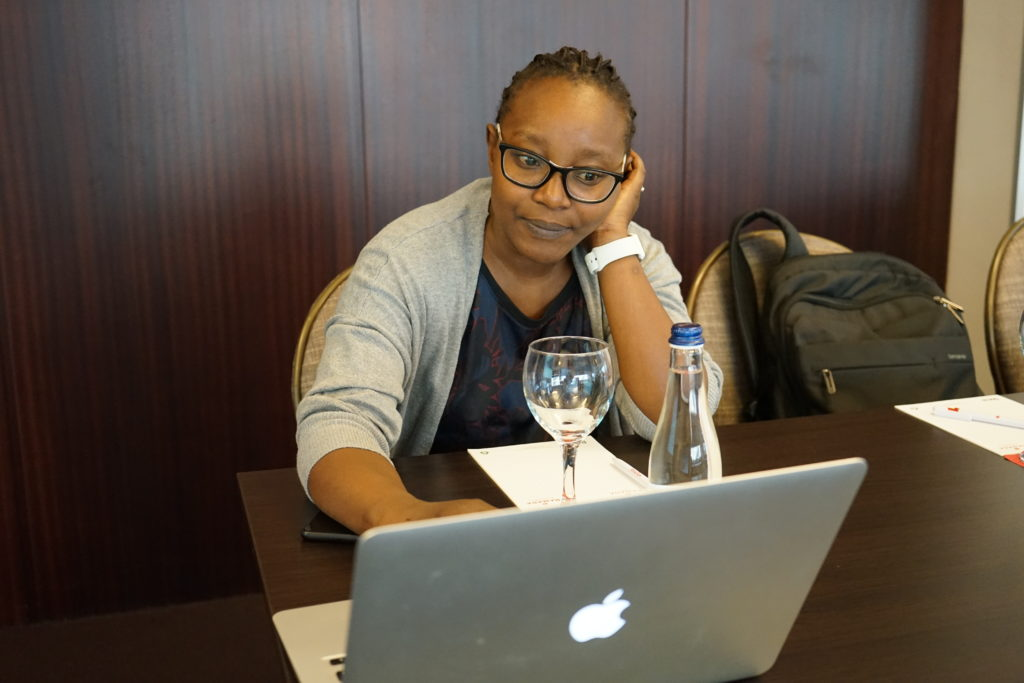 Phylis Kitema at the European Huntington Association board meeting.
