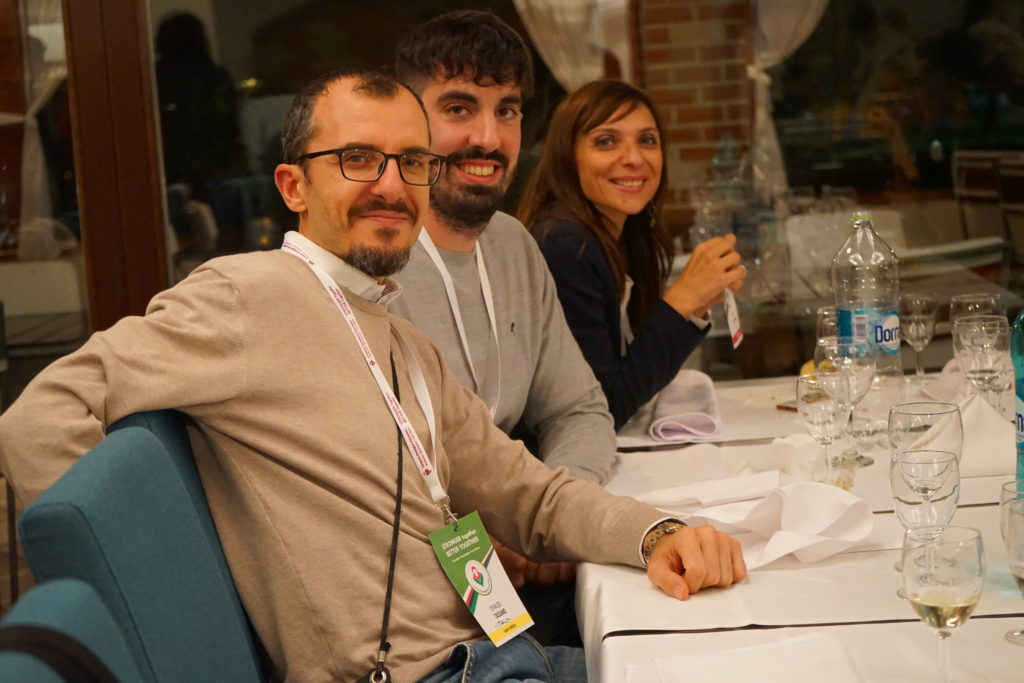 Attendees from Italy. Marco Salvador in the middle and Barbara D'Alessio to the right (Vice President, EHA).